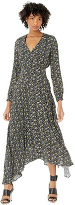 Paul Smith Ditsy Floral Print Dress (Black) Women's Clothing