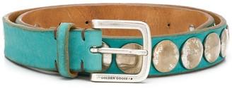 Golden Goose Studded Leather Belt