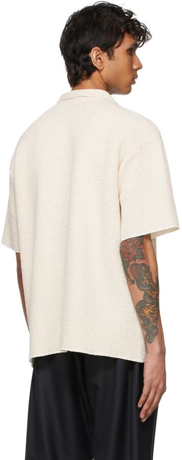 Thumbnail for your product : Kuro Off-White Waffle Short Sleeve Shirt