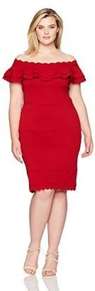 Brinker & Eliza Women's Plus Size Off-The-Shoulder Sweater Dress