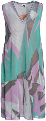 M Missoni Fluted Intarsia Cotton-blend Dress