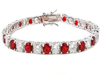 Savvy Cie Silver Cz Bracelet