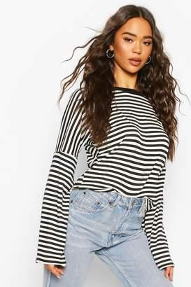 boohoo Stripe Ringer Long Sleeved T-Shirt