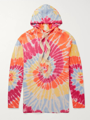 Loewe + Paula's Ibiza Tie-Dyed Fleece-Back Cotton-Jersey Hoodie