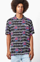 Obey Shredder Short Sleeve Button Up Camp Shirt