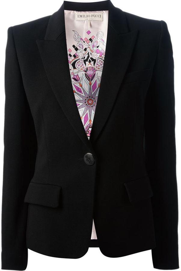 Emilio Pucci buttoned blazer