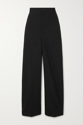Balenciaga Wool-blend Twill Straight-leg Pants - Black