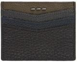 Fendi Stitch-embellished Grained-leather Cardholder