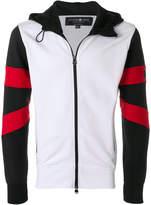 Hydrogen colour block zipped hoodie