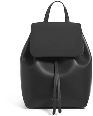 Mansur Gavriel Mini Coated Leather Backpack
