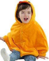 Happy Cherry Baby Kids Cloak Fashion Warm Poncho Frog Hooded Cape Mantle Winter Coat Snowsuit