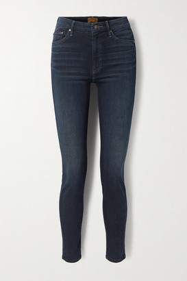 Mother Looker High-rise Skinny Jeans - Dark denim