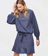 LOFT Petite Shimmer Drawstring Skirt