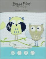 Bubba Blue Baby Owl Blue Cot Waffle Blanket