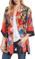 Johnny Was Mishka Embroidered Silk Kimono