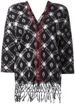 Masscob V-neck fringed blouse