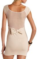 Charlotte Russe Bow-Back Body-Con Dress