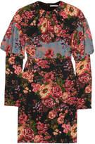 Emilia Wickstead Lavinia Paneled Floral-print Stretch-crepe Mini Dress - Pink