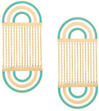 Nevernot Farfetch Exclusive 18kt yellow gold embellished drop earrings