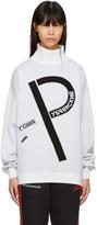 Gosha Rubchinskiy Off-white p Logo Turtleneck Sweater