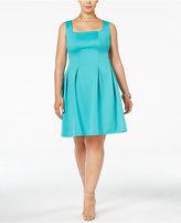 Love Squared Trendy Plus Size Scuba Fit & Flare Dress