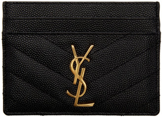 Saint Laurent Black Monogramme Card Holder