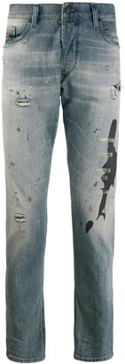 Diesel slim distressed jeans