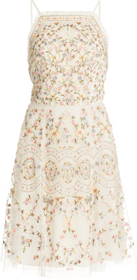 Needle & Thread Sweet Petal Embroidered Mini Dress