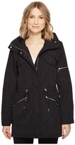 Vince Camuto Lightweight Parka with Drawstring Waist and Hem Women's Coat