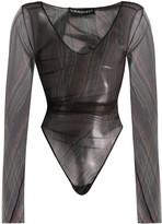 Y/Project Sheer Long-Sleeve Bodysuit