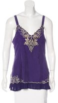 Karen Millen Silk Embellished Top w/ Tags
