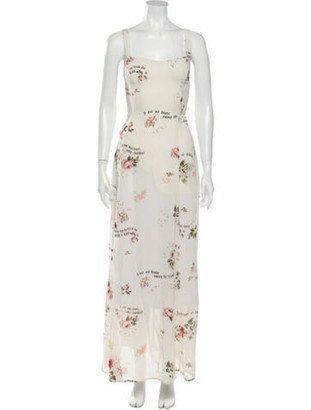 Reformation Floral Print Long Dress