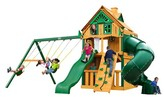 Gorilla Playsets Mountaineer Clubhouse Treehouse with Fort Add-On & Timber Shield