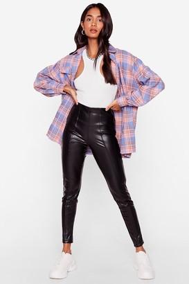 Nasty Gal Womens Zip 'Em Into Shape Faux Leather Leggings - Black
