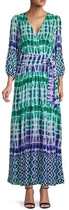 Calvin Klein Tie-Dyed Long-Sleeve Maxi Dress
