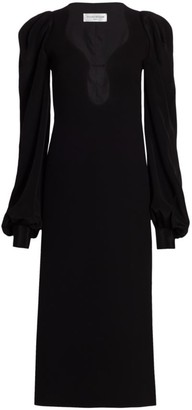 Victoria Beckham Long Sleeve Keyhole Midi Dress