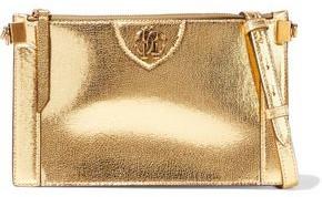 Roberto Cavalli Metallic Cracked-leather Shoulder Bag