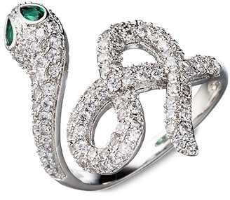 Eye Candy La Luxe Crystal Snake Ring