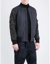 Christopher Raeburn Camouflage-print sleeve quilted bomber jacket