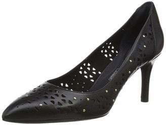 Rockport Women's Total Motion 75mm Pointy Toe Perf Stud Closed Heels