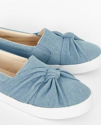 Evans Denim Knot Shoes - Blue