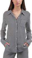 A.L.C. Scott Silk Striped Button-Down Shirt (Women's)