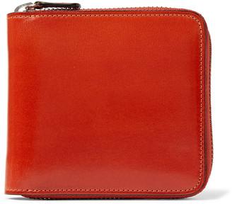Il Bussetto Polished-Leather Zip-Around Wallet - Men - Orange