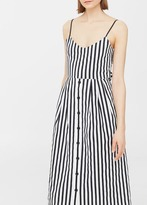 MANGO Striped Cotton Dress