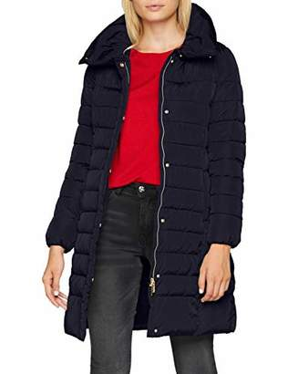 Geox Women's W AIRELL Quilted Long Sleeve coat,10 (Manufacturer Size: )