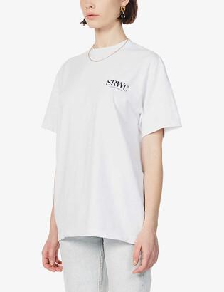 Sporty & Rich Logo-pint cotton-jersey T-shirt