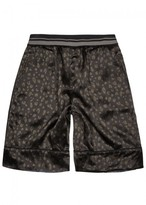 3.1 Phillip Lim Leopard-print Reversible Satin Shorts