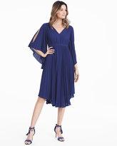 White House Black Market Cold-Shoulder Pleated Soft Dress