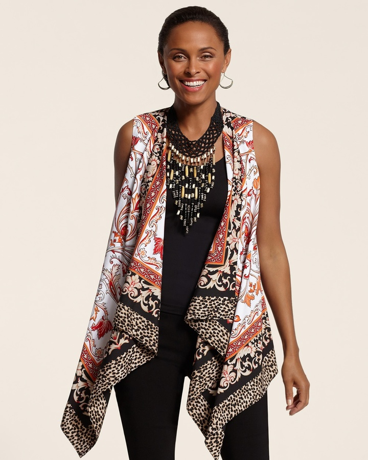 Chico's Mixed Print Vest