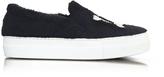 Joshua Sanders LA Black Synthetic Fur Slip On Sneaker